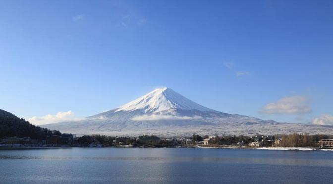 山梨県・河口湖と富士山