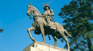 宮城県。伊達政宗騎馬像